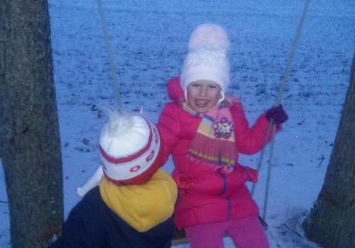 Baltų snaigių džiaugsmas...:)
