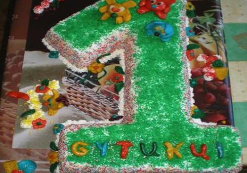 Gytuko pirmojo gimtadienio tortas