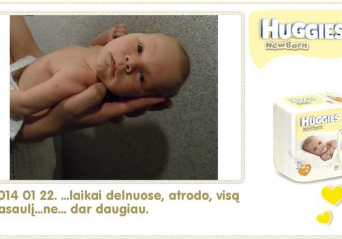 Hubertas auga kartu su Huggies ® Newborn: 33 gyvenimo diena