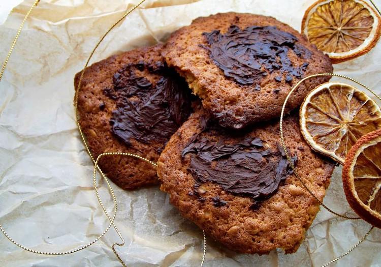 Moliūgų sausainiai su šokoladu