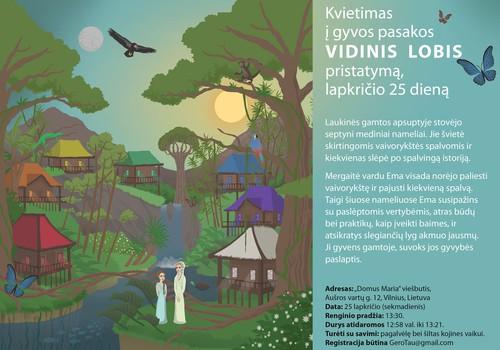 Kvietimas į gyvą pasakos pristatymą Vilniuje, lapkričio 25 dieną