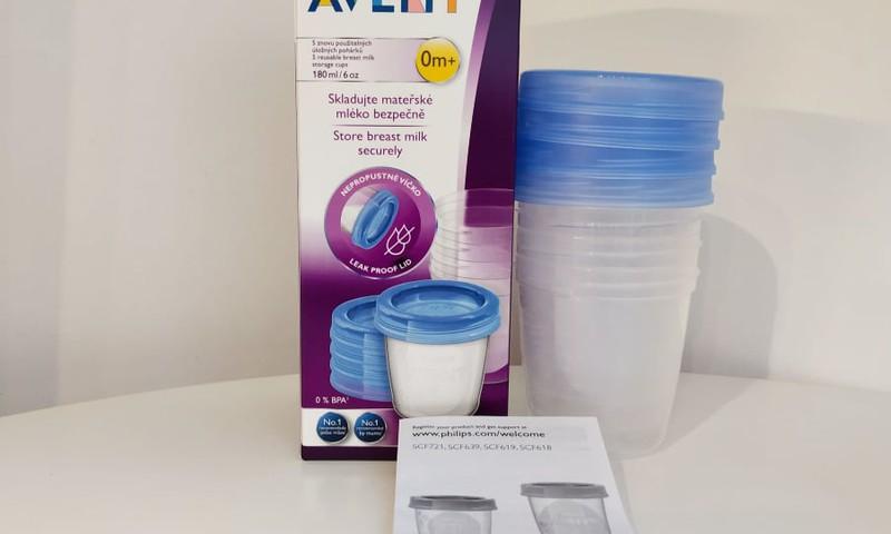 Philips Avent indeliai - mamos pienui ir kūdikio košytėms laikyti