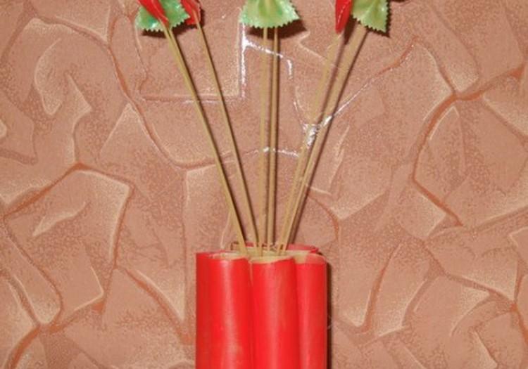 Nevystančios gėlės iš makaronų