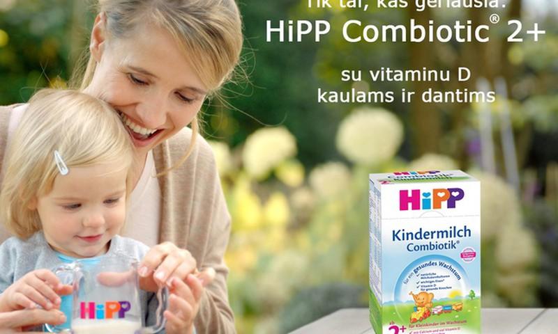 """Kas ragaus """"HiPP Combiotik® 2+"""" pieno gėrimą?"""