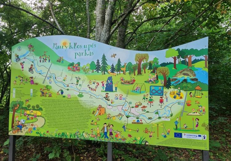 Jauryklos upės parkas Kretingoje