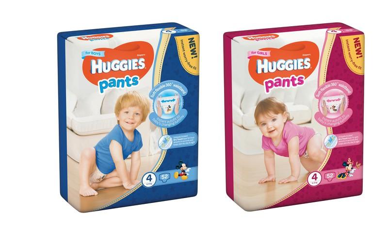 Naujo dizaino sauskelnės - kelnaitės Huggies® Pants