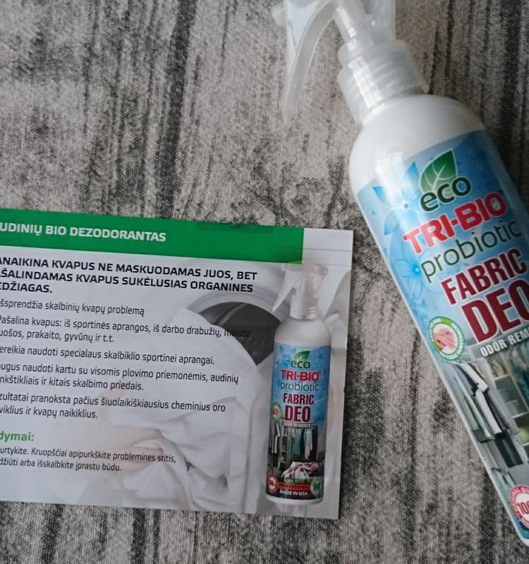 TRI-BIO gaminių apžvalga: probiotinis eko audinių dezodorantas