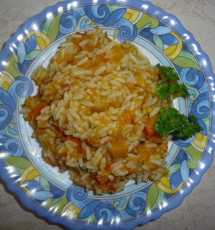 Moliūgų troškinys su ryžiais arba kitaip - plovas