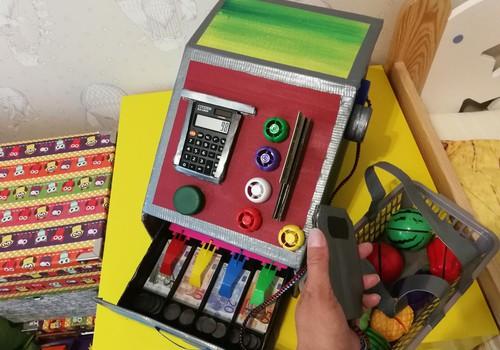 Kasos aparatas - žaidžiame parduotuvę