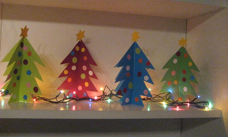 Kalėdos. Gaminame eglutes su mažaisiais