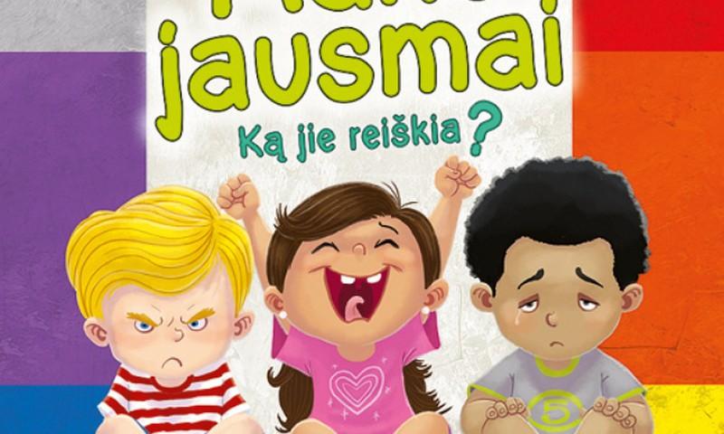 """Pokalbis su vaikais apie jausmus + knygos """"Mano jausmai. Ką jie reiškia?"""" įteikimas"""