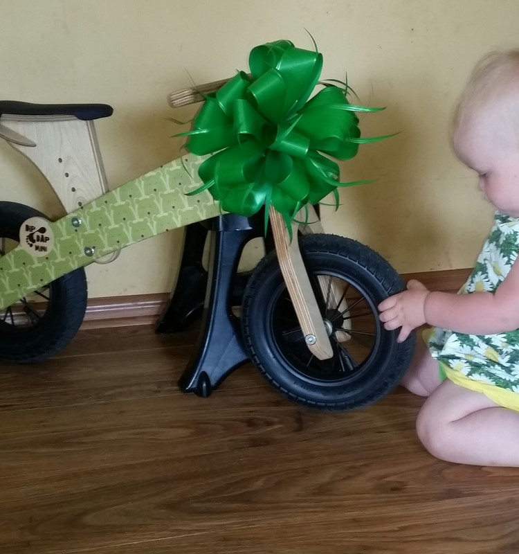 Balansinis dviratukas DIP DAP jau džiugina mus. AČIŪ!