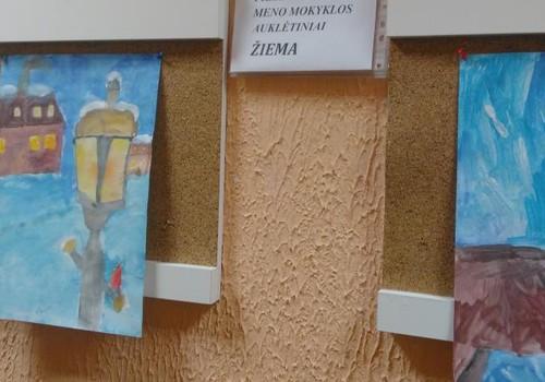 Lankėmės meno mokyklos mokinių parodoje