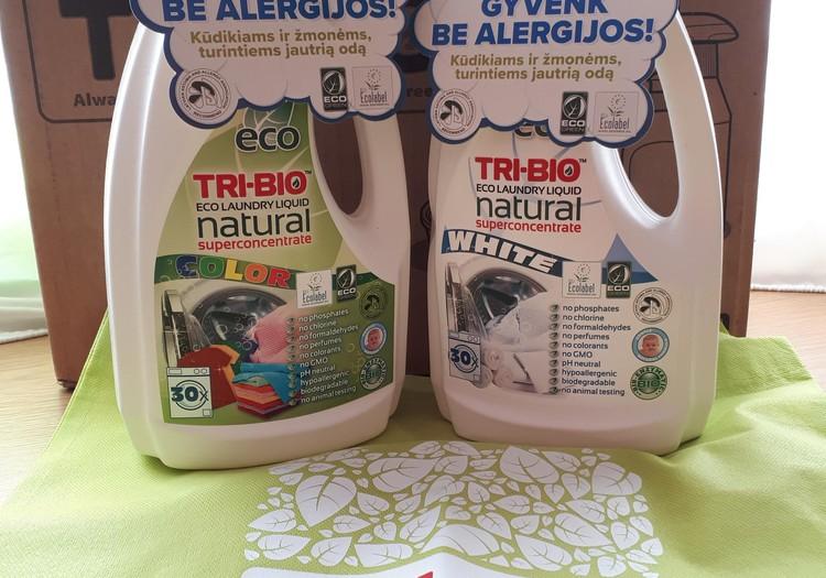 Testuoju TRI-BIO produkciją - Natūralus EKO skystas drabužių skalbiklis  white color 