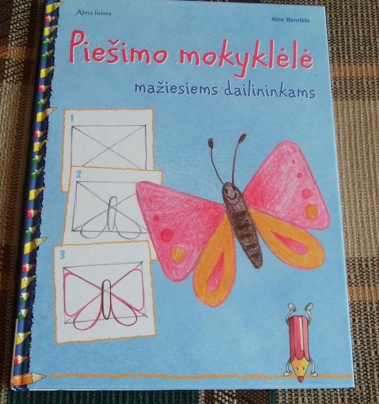 """Knygelė """"Piešimo mokyklėlė mažiesiems dailininkams"""""""