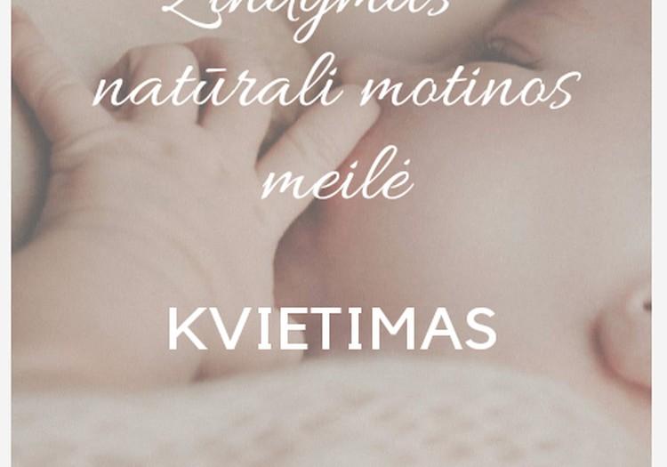 """Fotografijų Paroda """"ŽINDYMAS - NATŪRALI MOTINOS MEILĖ"""""""