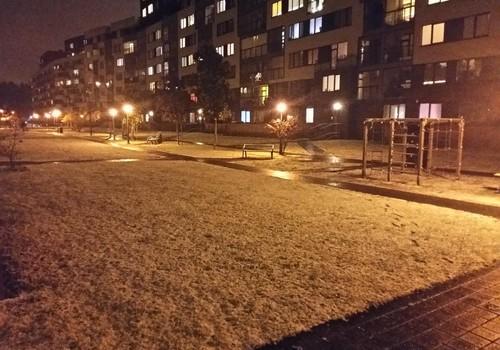 Su pirmuoju spalio sniegu! :)