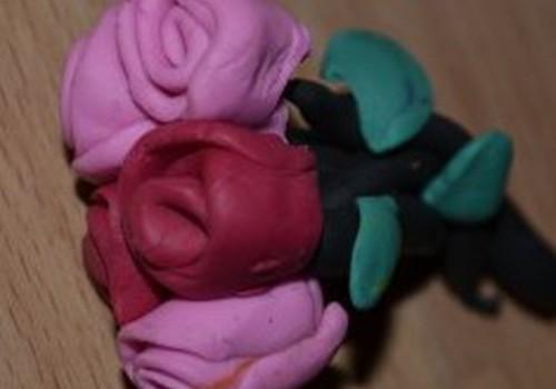 Plastilino rožytės