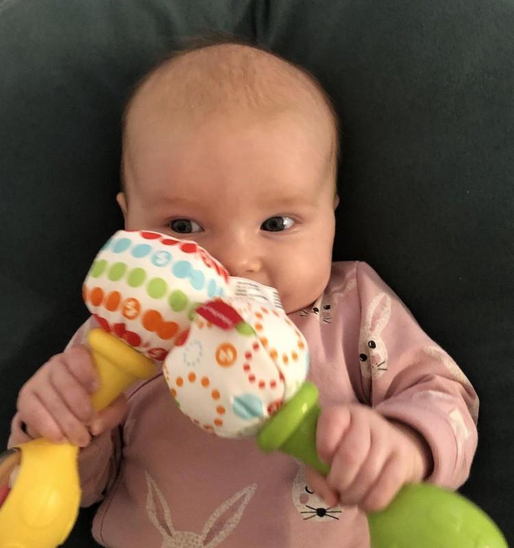 Ką moka dviejų mėnesių kūdikis?