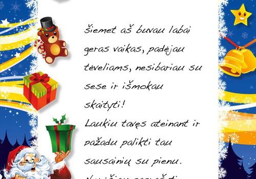 Ar vaikai rašo laiškus Kalėdų seneliui ir kokių dovanėlių prašo?