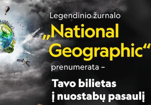 """Dovanok artimiesiems """"National Geographic Lietuva"""" prenumeratą"""