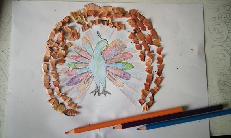 Pieštukų drožlių menas