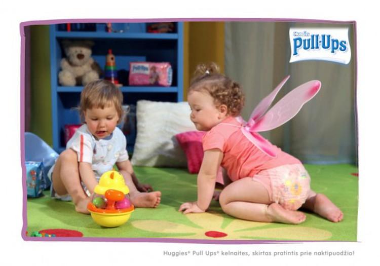 Su Huggies Pull-Ups® pratintis prie naktipuodžio paprasčiau ir smagiau!