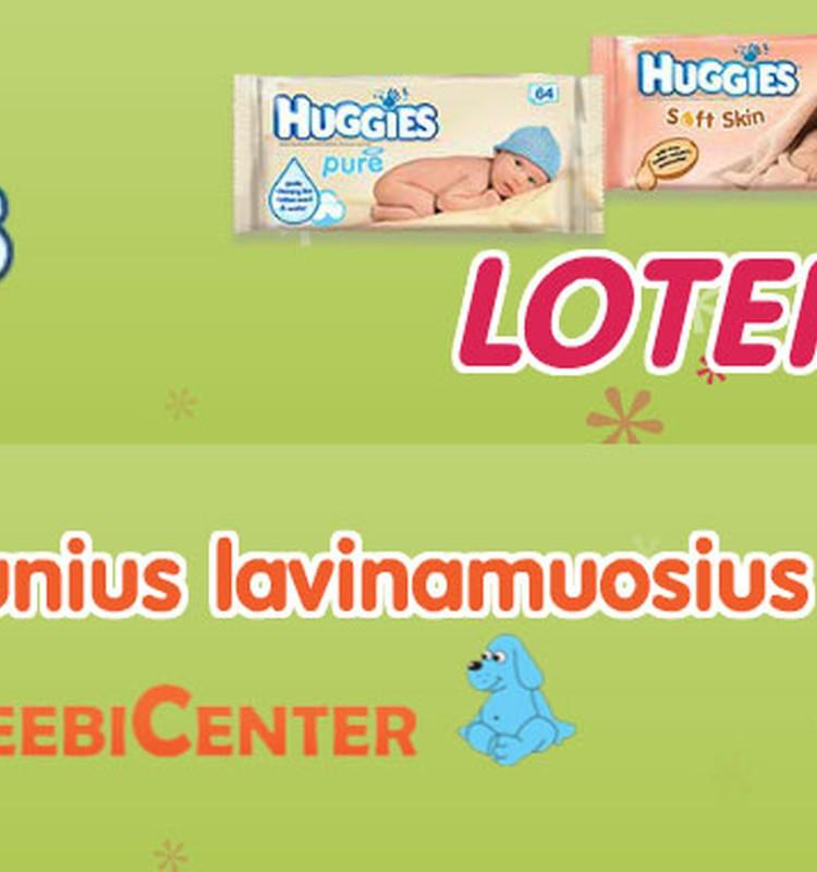 Pirk drėgnąsias Huggies® servetėles, dalyvauk loterijoje ir kas savaitę laimėk žaisliukų mažyliui!