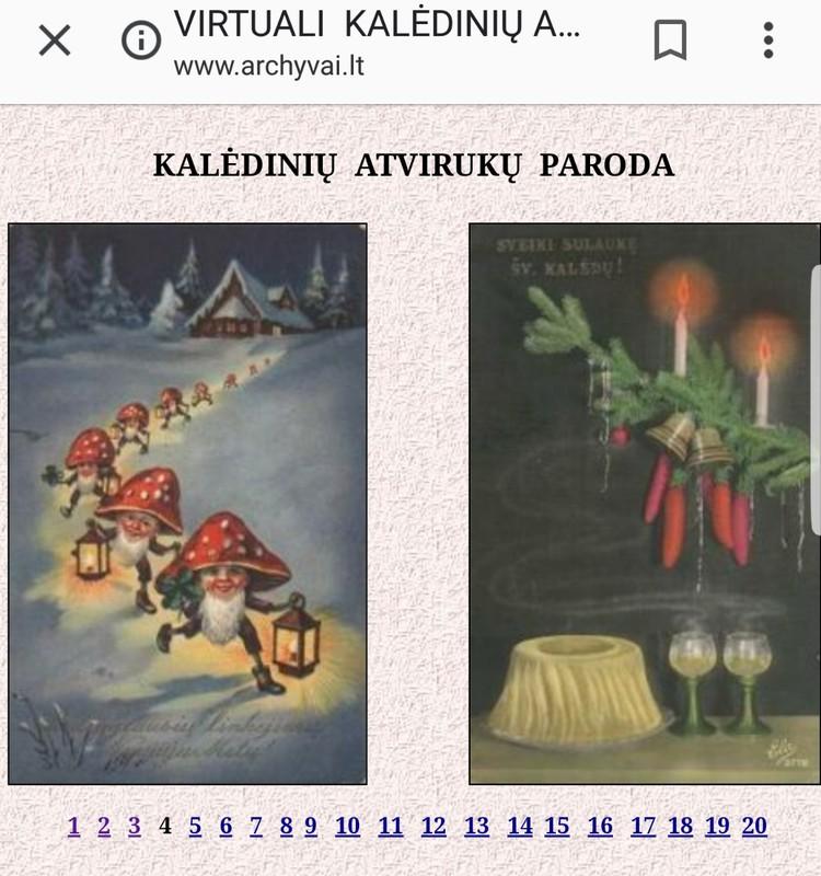 KALĖDŲ SULAUKUS: Virtuali Kalėdinių atvirukų paroda. Matėt?