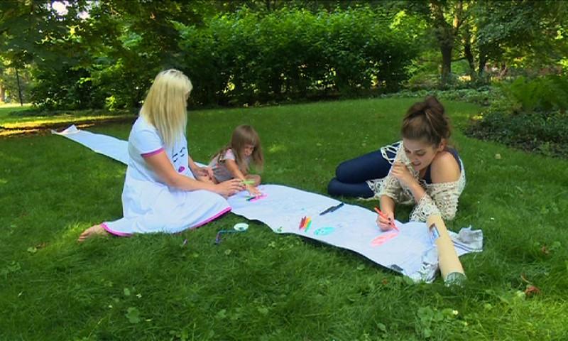Vaikų kūrybiškumui lavinti - spalvinimo rulonas