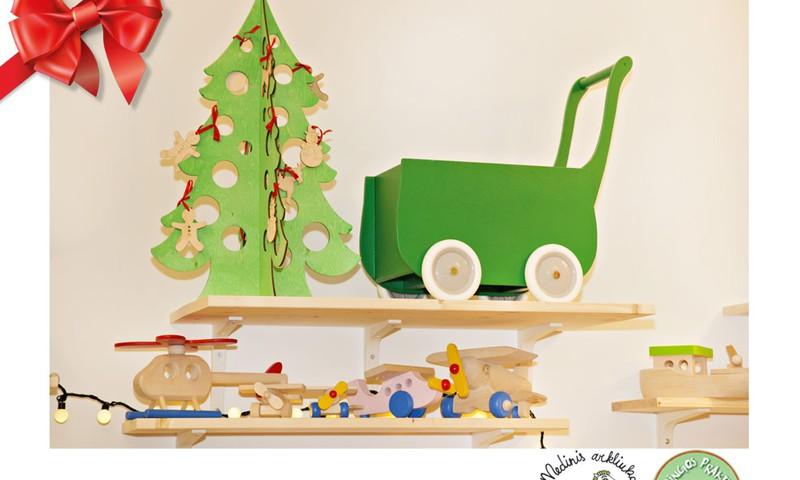Huggies® šventinių dovanų katalogas: mediniai žaisliukai vaikams