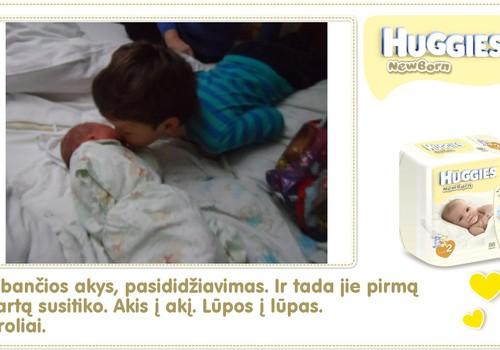 Hubertas auga kartu su Huggies ® Newborn: 3 gyvenimo diena