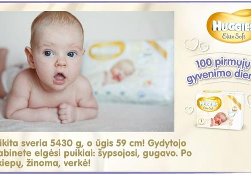 Mažylis auga kartu su Huggies® Elite Soft: 65 diena