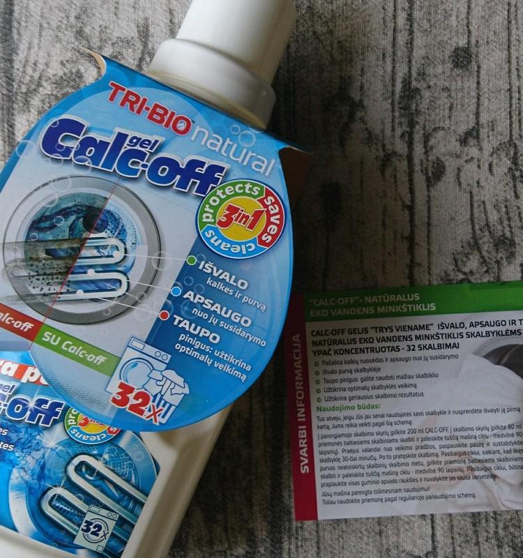 TRI-BIO gaminių apžvalga: natūralus eko vandens minkštiklis skalbyklėms