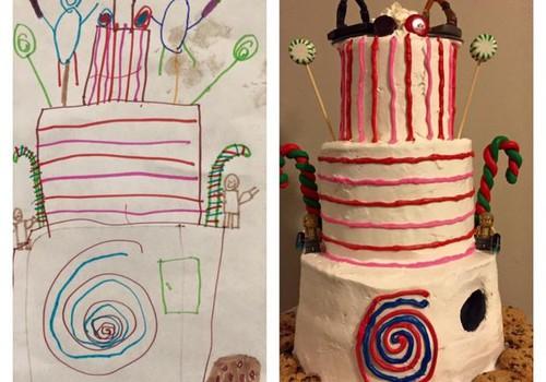 Tortas pagal vaiko piešinį