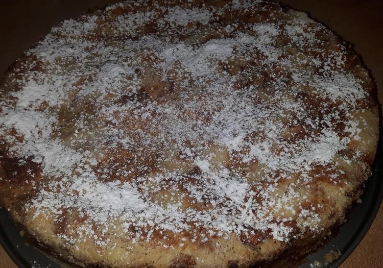 Žaibiškai pagaminamas ir nepaprastai skanus obuolių pyragas be tešlos