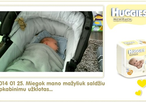 Hubertas auga kartu su Huggies ® Newborn: 37 gyvenimo diena