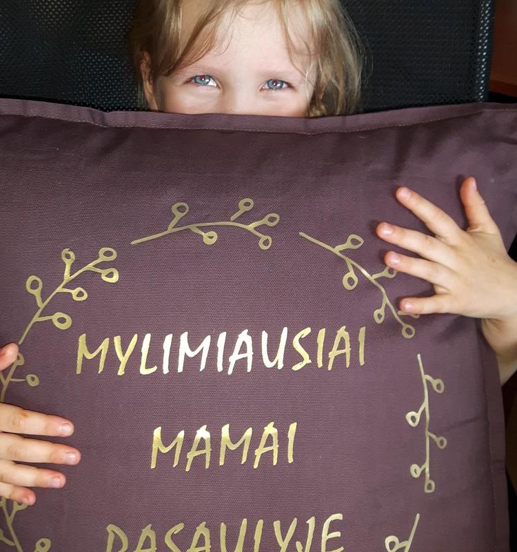 Ačiū už originalią pagalvėlę iš Lipdukai.eu!