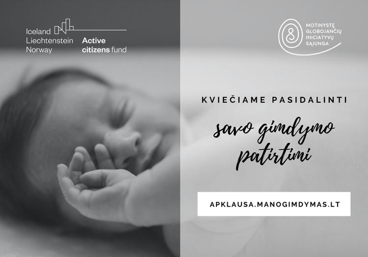 Anoniminė apklausa: pasidalinkite patirtimi apie gimdymą
