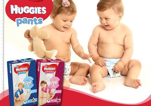 Naujo dizaino sauskelnės-kelnaitės Huggies® Pants - aktyviems mažyliams!