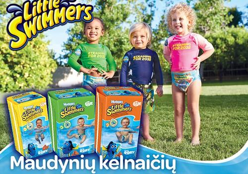 Mėgaukitės vandens linksmybėmis su maudynių kelnaitėmis - Huggies® Little Swimmers®!