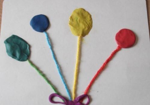 Spalvoti balionėliai iš plastilino