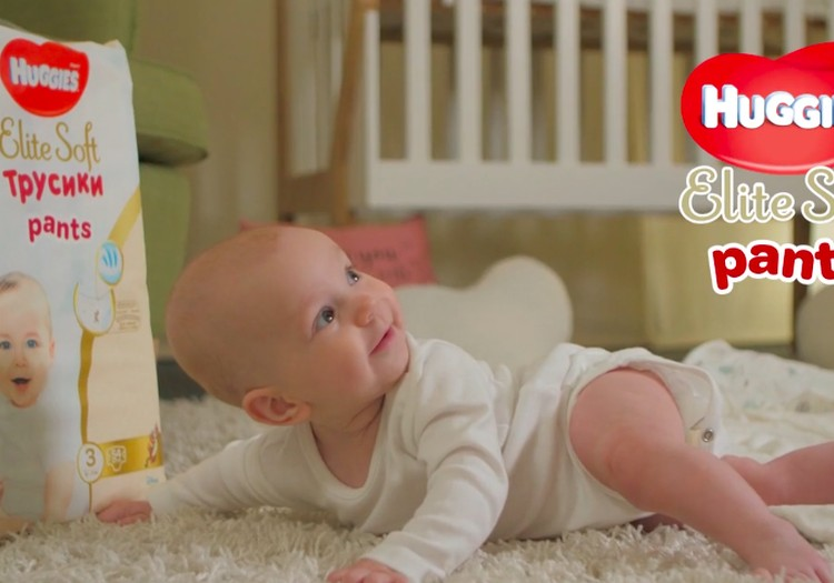 Video pasakojimas: Huggies® Elite Soft sauskelnės- kelnaitės
