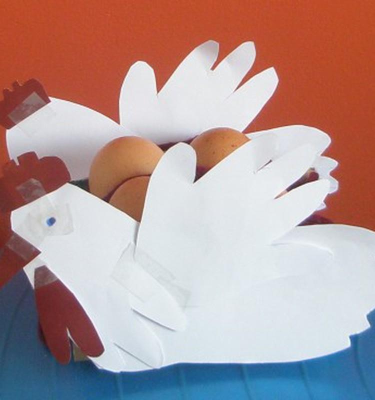 Dukrytės gamintas Velykų krepšelis