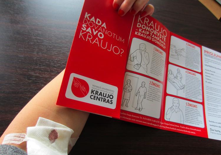Pirmą kartą tapau kraujo donore