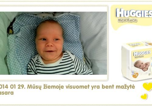 Hubertas auga kartu su Huggies ® Newborn: 39 gyvenimo diena