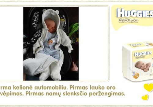 Hubertas auga kartu su Huggies ® Newborn: 4 gyvenimo diena