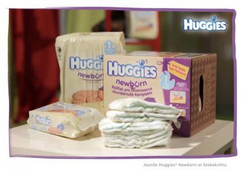 Pirmosios naujagimiams skirtos sauskelnės su biomedvilne - Huggies® Newborn!