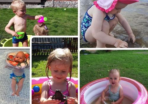 Mažylių maudynės šią vasarą: FOTO ALBUMAS