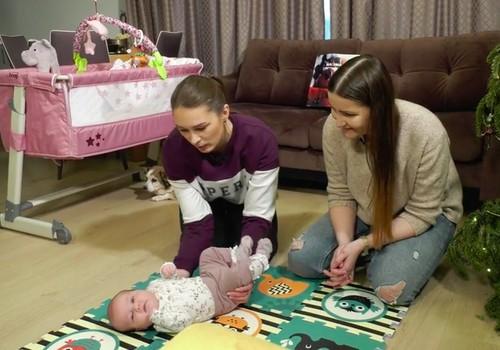 VIDEO: Naudingi užsiėmimai su 2 mėnesių kūdikiu
